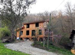 Maison Paille, Ossature bois, enduits terre