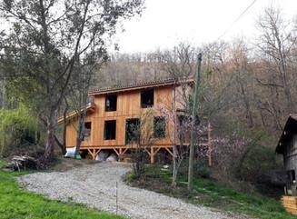 Maison Paille, Ossature bois, enduits te