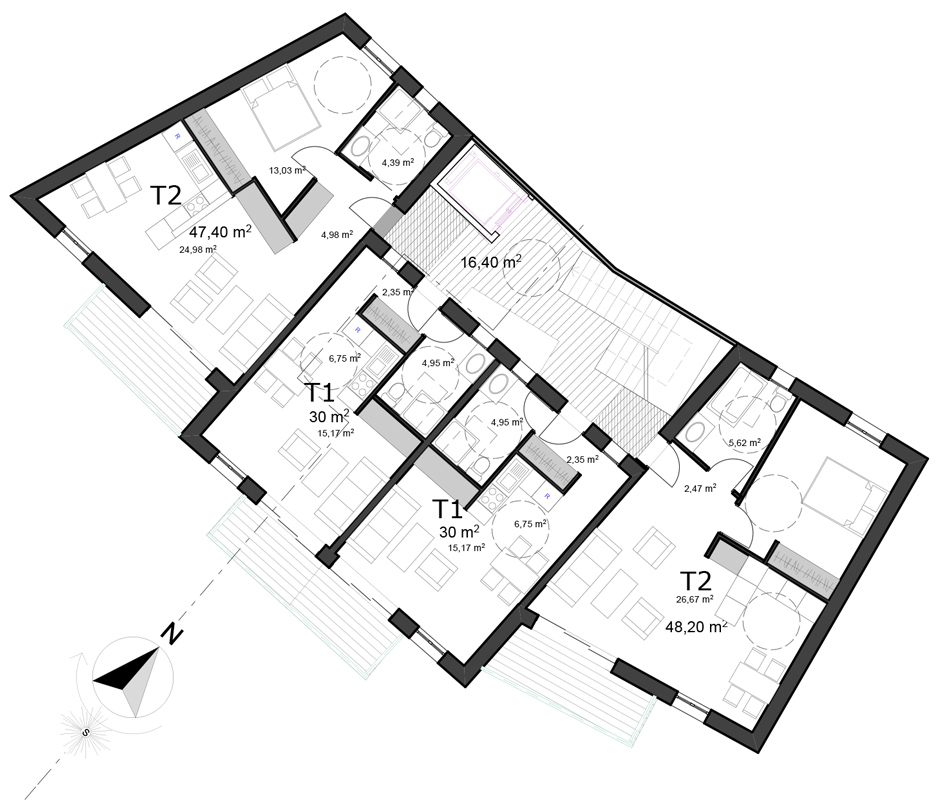 Plan-Immeuble-de-Logements