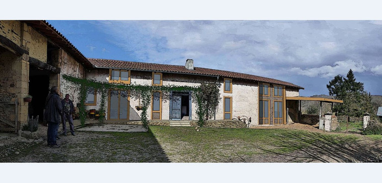 Rénovation Ferme - Terre crue - architec