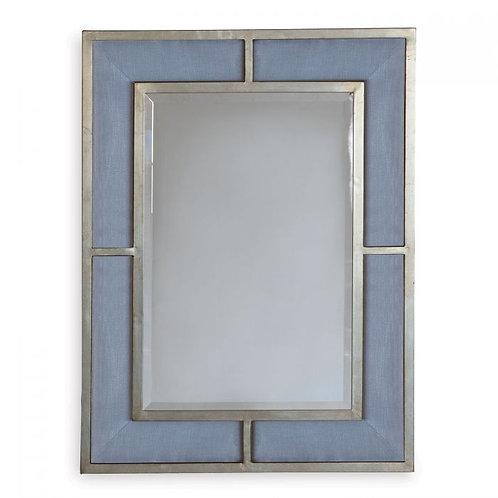 Bedford Silver Marine Blue Mirror