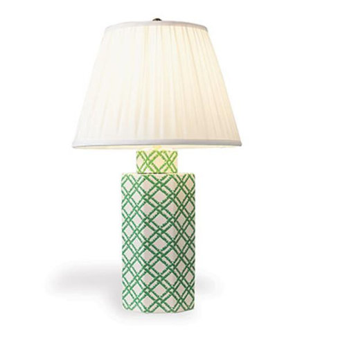 Bamboo Trellis Hex Table Lamp