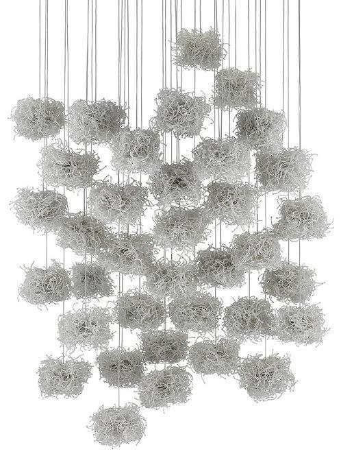 Birds Nest 36-Light Multi-Drop Pendant