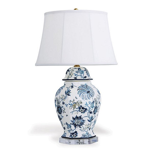 Braganza Blue Hex Table Lamp