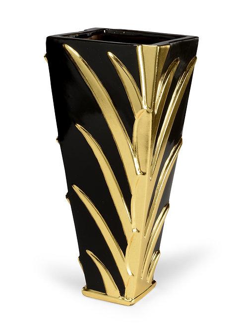 Black Leaf Vase