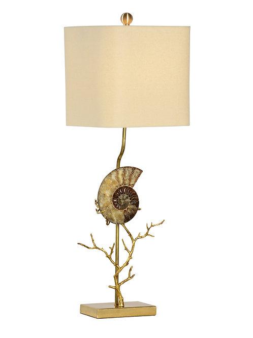 Ammonite Lamp Left