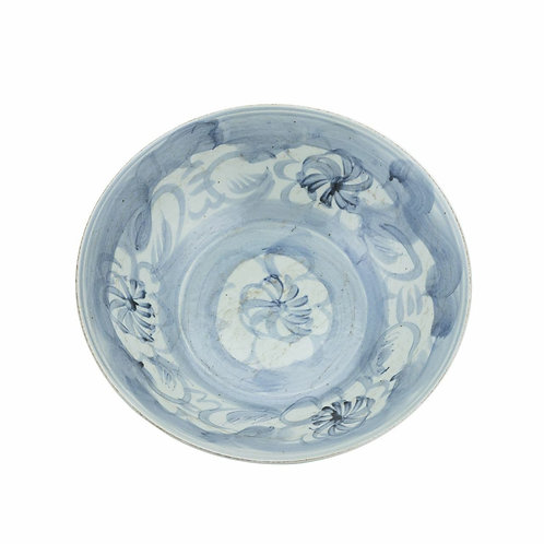 Blue And White Porcelain Silla Sea Grass Large Plate