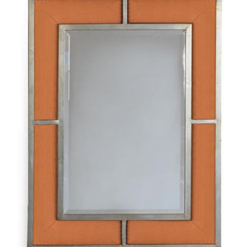 Bedford Silver Tangerine Linen Mirror