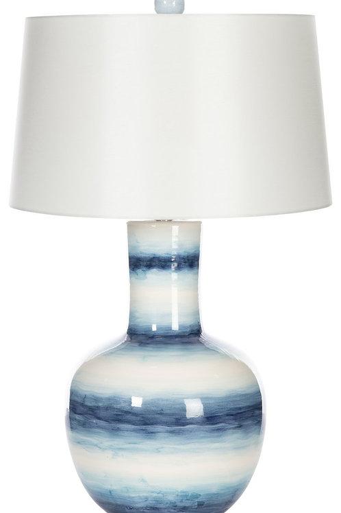 Blue Ocean Stripes Table Lamp