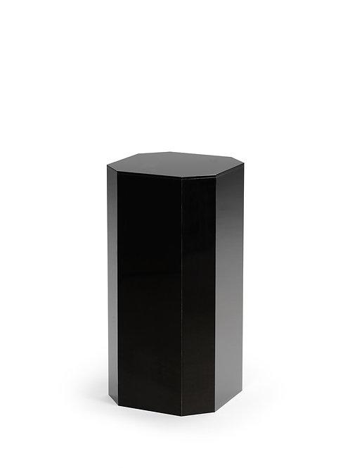 Black Acrylic Beveled Pedestal Small