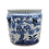 Thumbnail: Blue And White Porcelain Pine Plum Bamboo Planter With Lion Handle
