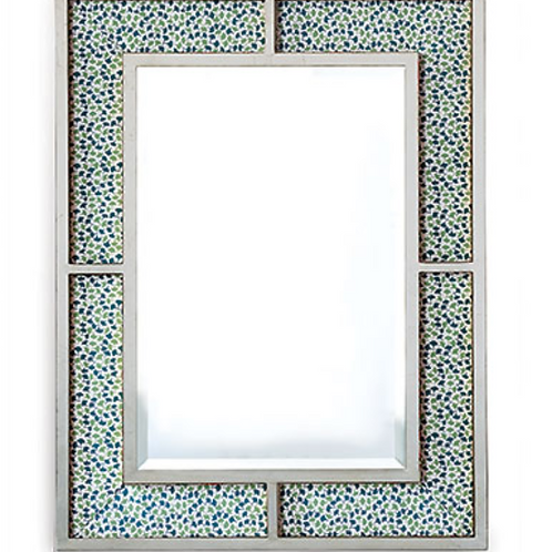 Bedford Silver Mirror/howards End Green