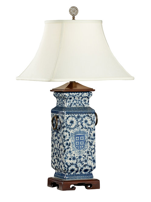 Blue And White Heralds Lamp