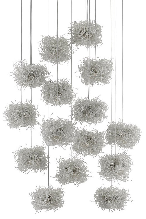 Birds Nest Round 15-Light Multi-Drop Pendant