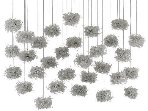 Birds Nest 30-Light Multi-Drop Pendant