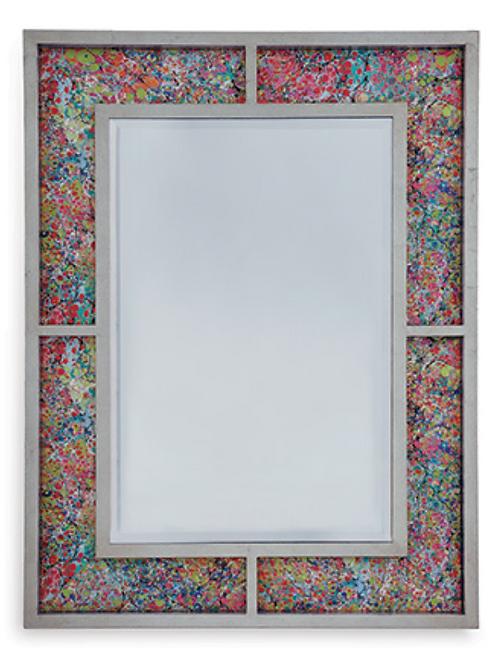 Bedford Silver Mirror / Soiree Multi Fabric