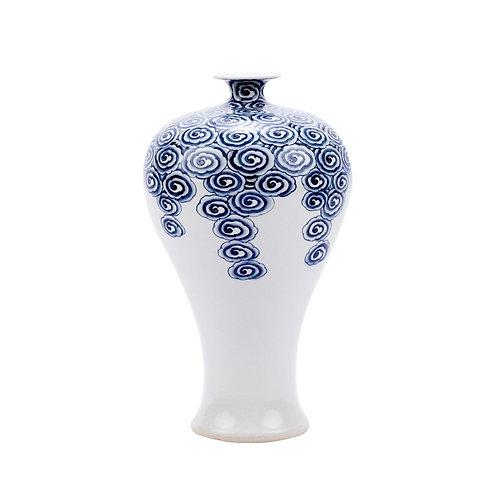 Blue & White Driftting Cloud Plum Porcelain Vase
