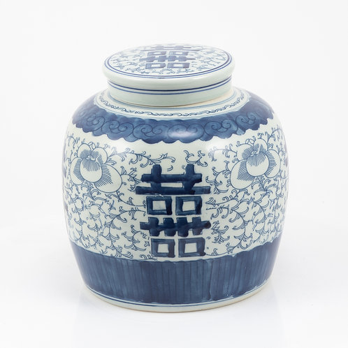 Blooming Double Happiness Jar