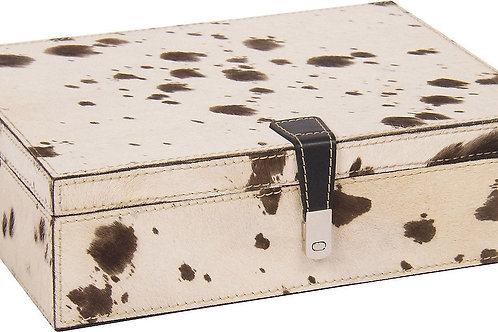 Cow Spotted Leather Box