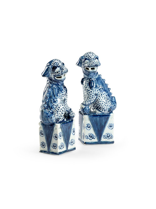 Blue And White Palace Dogs