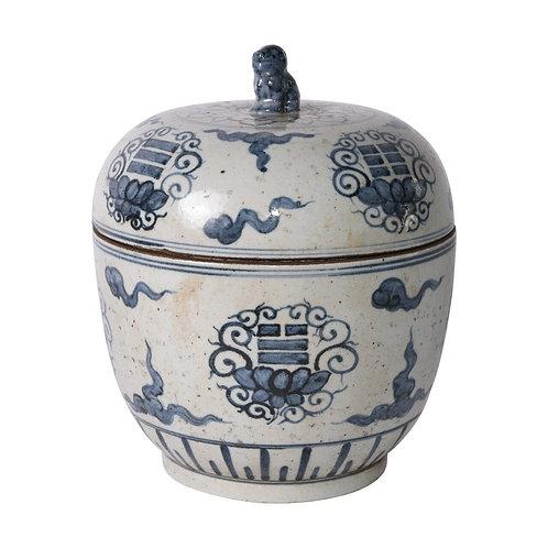Blue And White Tai Chi Lidded Jar