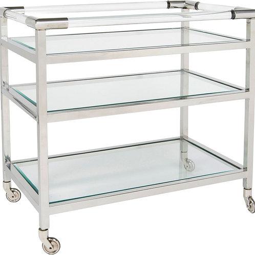 3-Shelf Rolling Bar Cart