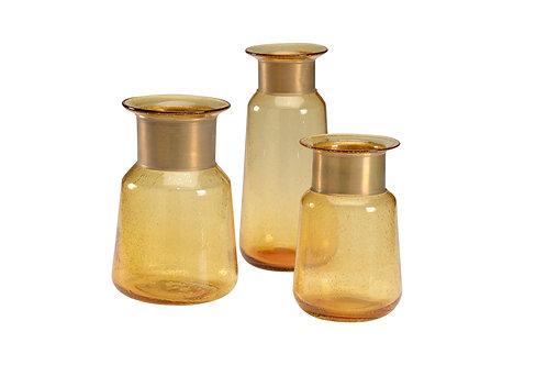 Banded Bottles set of 3