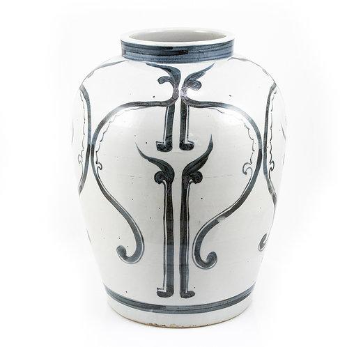 Blue And White Peking Opera Mask Jar