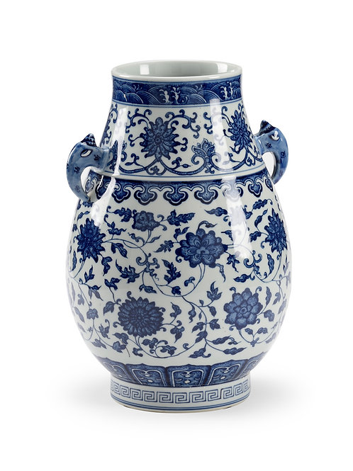 Blue And White Vase With Hand
