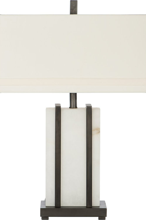 Bronze Alabaster Table Lamp