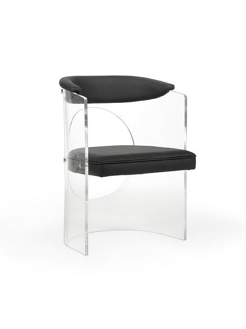 Baran Barrel Back Acrylic Chair
