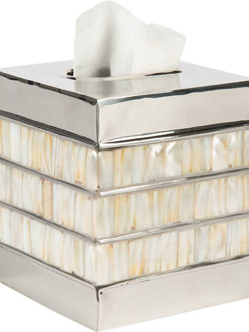 Bone - Nickel Tissue Box Cover