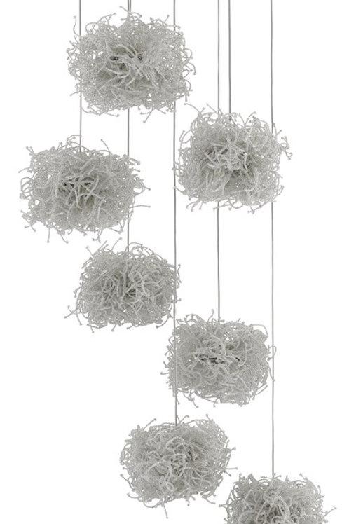 Birds Nest 7-Light Multi-Drop Pendant