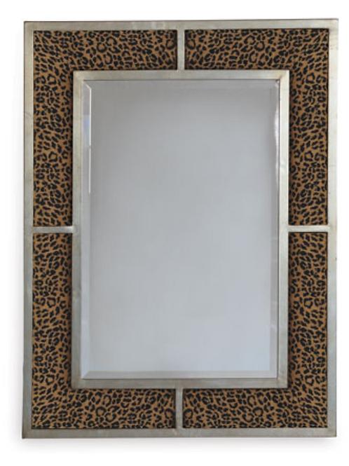 Bedford Silver Wild Leopard Mirror