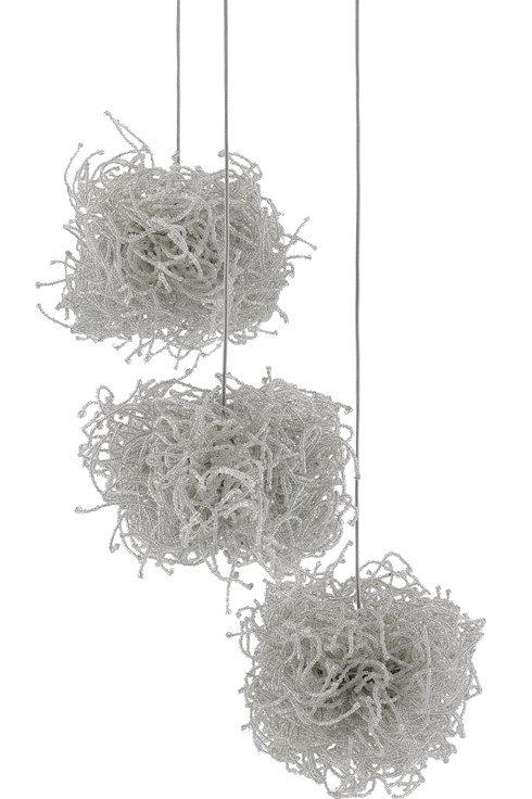 Birds Nest 3-Light Multi-Drop Pendant