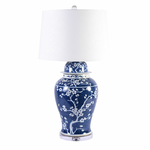 Blue and White Plum Blossom G. Table Lamp