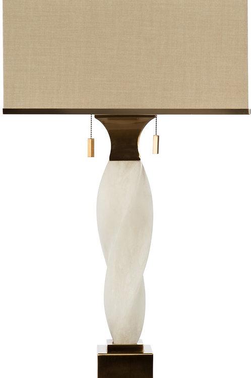 Alabaster Twist Table Lamp