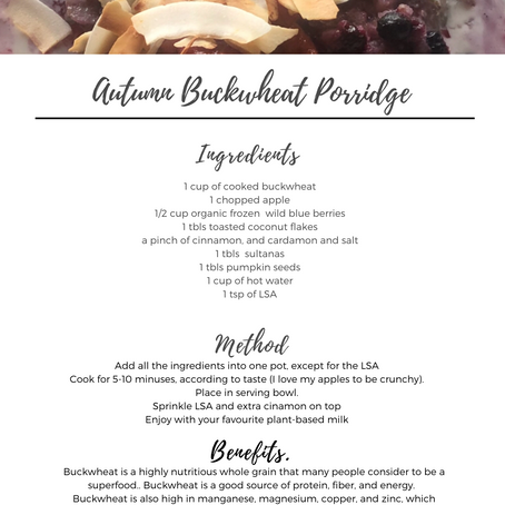 Autumn Buckwheat Porridge
