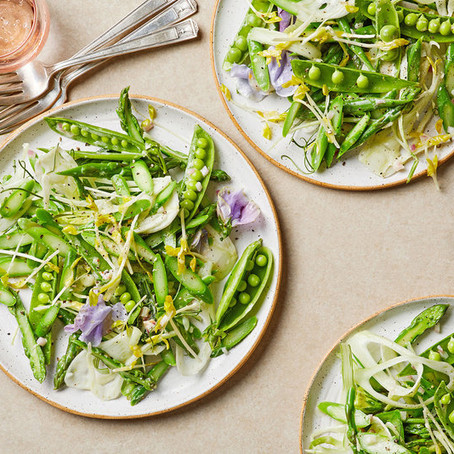 Sugar peas and Asparagus