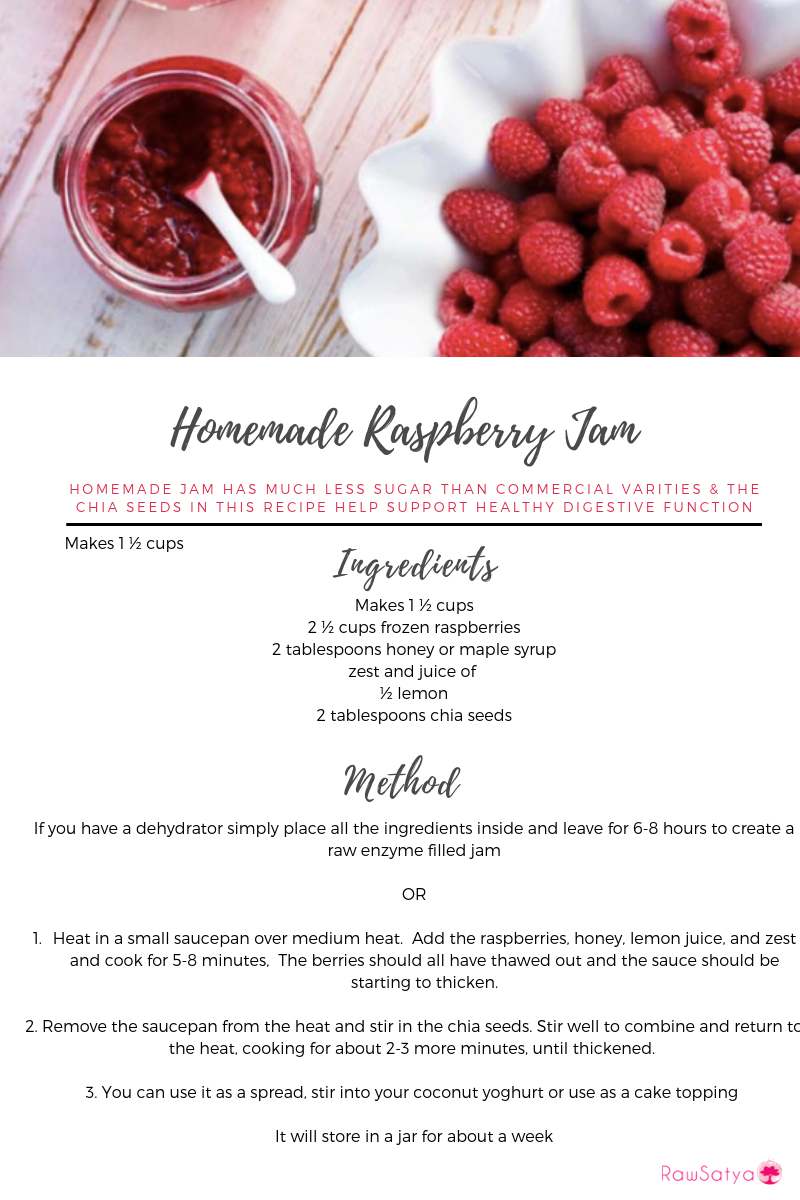 Homemade raspberry jam