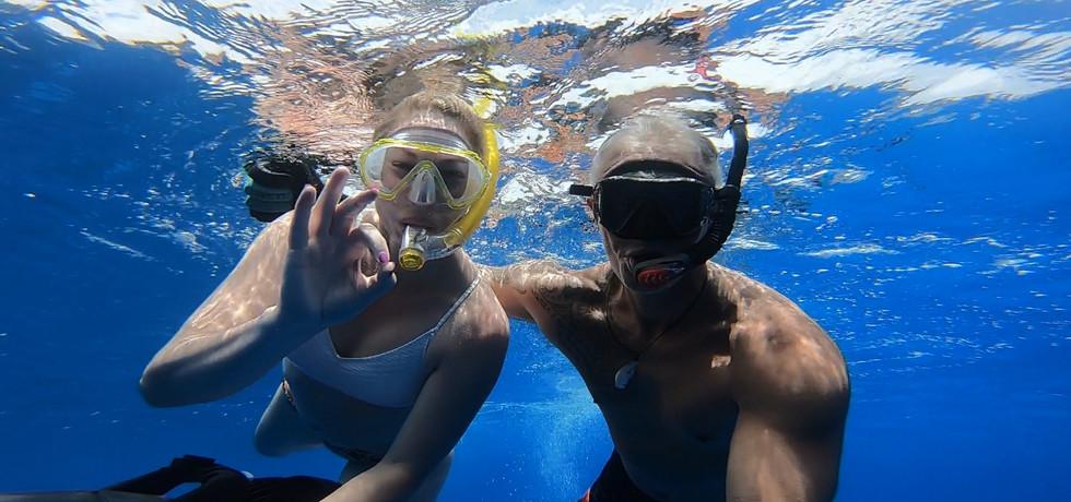 Selfie in the Pacific Ocean