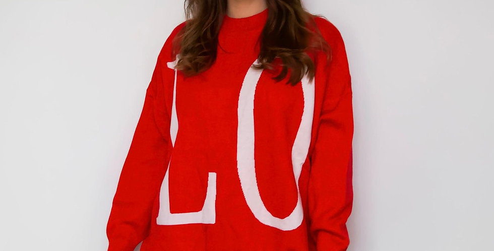 Red LOVE Jumper