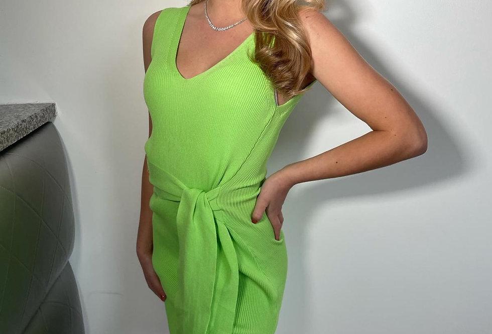 Mint Green Tie Up Dress