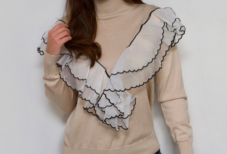 Nude Frilly Detail Jumper