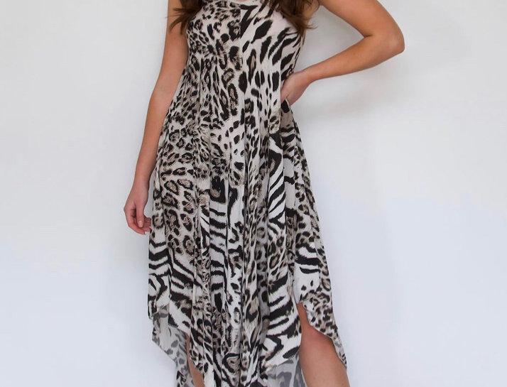 Brown Leopard Print Genie Dress