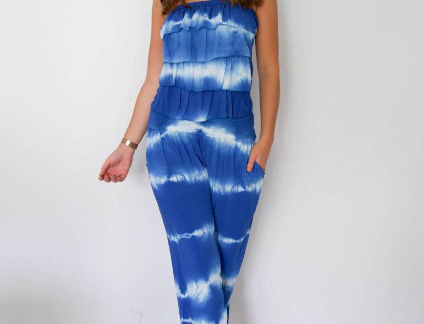 Blue Tie Dye Jumpsuit
