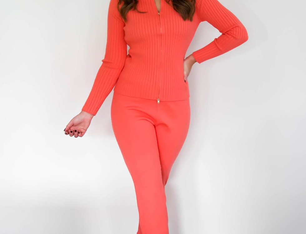 Coral Soft Knit Lounge Set