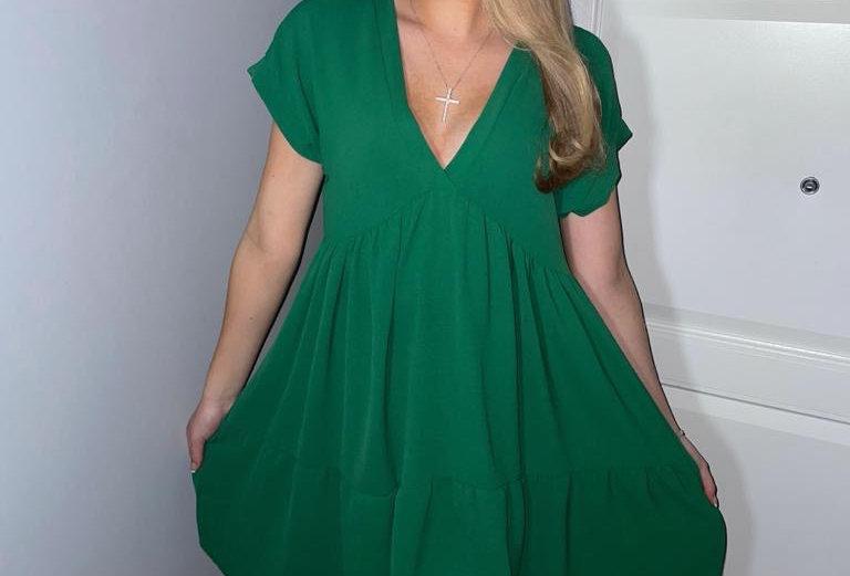 Green Smock Dress