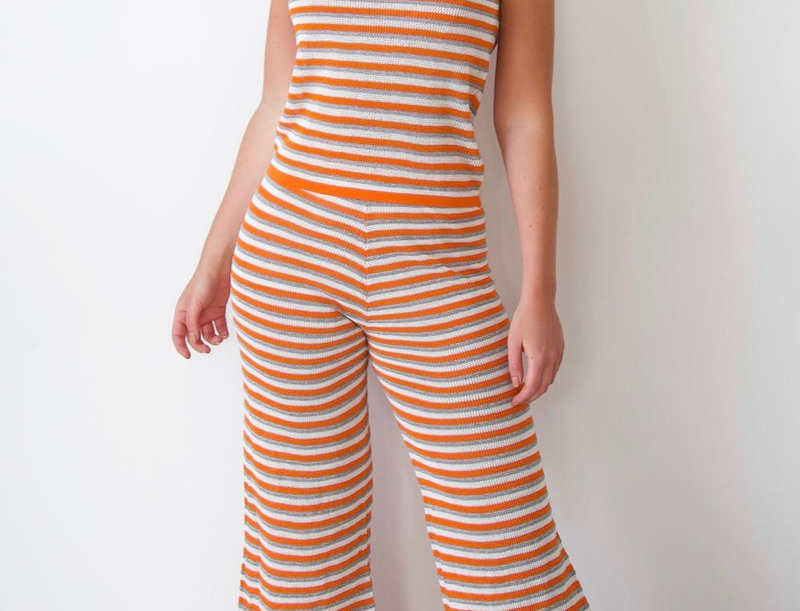 Orange striped co-ord