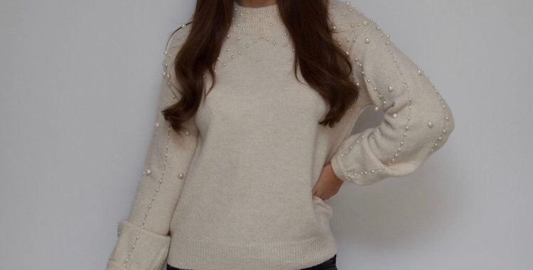 Cream Pearl Jumper